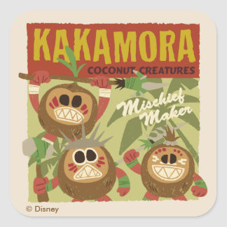 Moana | Kakamora - Coconut Creatures Square Sticker