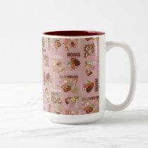 Moana & Kakamora Vintage Pattern Two-Tone Coffee Mug