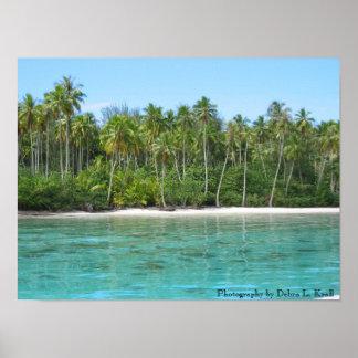 Moana Lagoon on Moorea Poster
