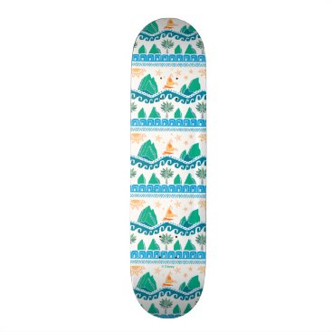 Disney Themed Moana | Land And Sea Are One - Pattern Skateboard Deck