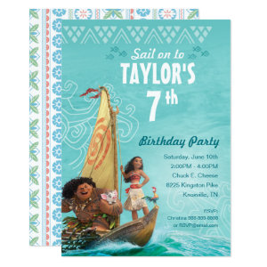 Moana Oceania Birthday Invitation - $2.27