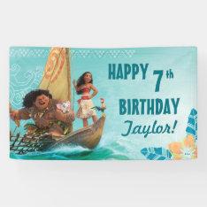 Moana   Oceanic Birthday Banner at Zazzle