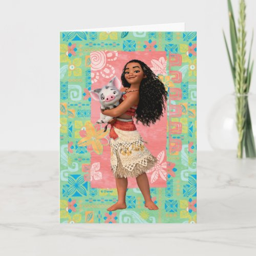 Moana  Pacific Island Girl Card