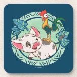 "Moana | Pua &amp; Heihei Voyagers Drink Coaster<br><div class=""desc"">Let us introduce the adorable Pua and Heihei from Disney&#39;s animated adventure, Moana. These two are bound by their love and support for Moana. Who would have thought a rooster and a pot-bellied pig could be the best of friends? Mini adventurers and animal lovers will adore the tropical theme and...</div>"