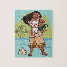 Moana   Pua & Heihei - Voyagers Jigsaw Puzzle