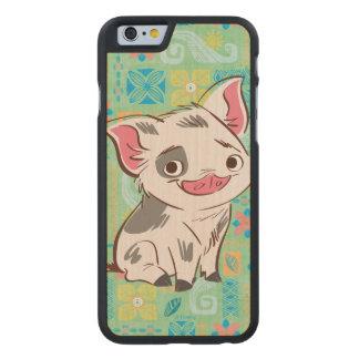 Moana | Pua - I'm No Bacon Carved Maple iPhone 6 Slim Case