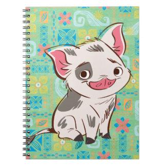 Moana | Pua - I'm No Bacon Spiral Notebook