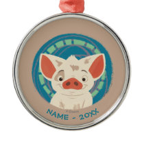 Moana | Pua The Pig Metal Ornament