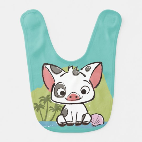 moana pua the pot bellied pig bib zazzle com