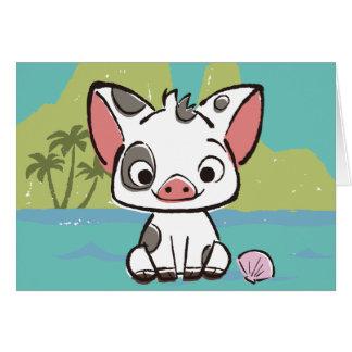 Moana | Pua The Pot Bellied Pig  Card