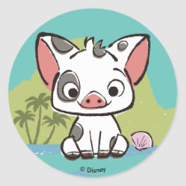 Moana | Pua The Pot Bellied Pig  Classic Round Sticker