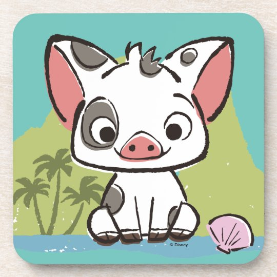 moana pua the pot bellied pig coaster zazzle com