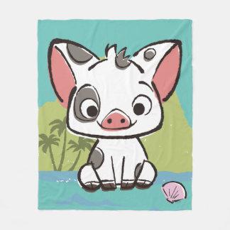 Moana | Pua The Pot Bellied Pig  Fleece Blanket