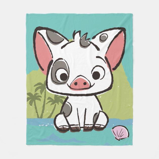 Disney Store Pua Pig Moana Hooded Throw Blanket Fleece Soft Cosy Cushion Gift