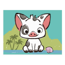 Moana | Pua The Pot Bellied Pig  Postcard
