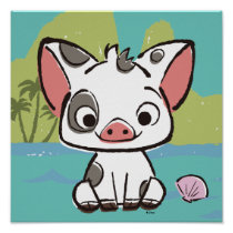 Moana | Pua The Pot Bellied Pig  Poster