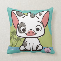 Moana | Pua The Pot Bellied Pig  Throw Pillow