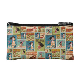 Moana | Retro Poster Pattern Makeup Bag