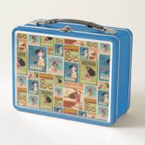 Moana | Retro Poster Pattern Metal Lunch Box