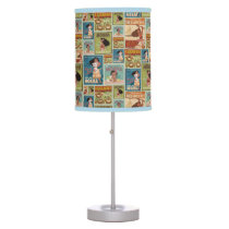 Moana | Retro Poster Pattern Table Lamp