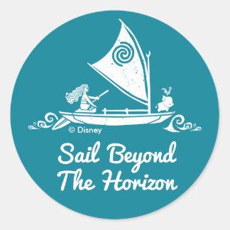Moana   Sail Beyond The Horizon Classic Round Sticker
