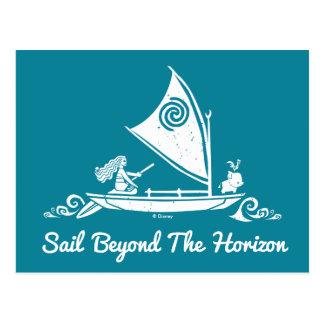 Moana | Sail Beyond The Horizon Postcard