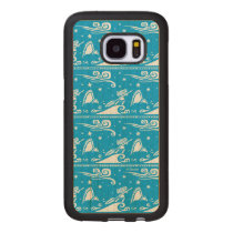 Moana | Sail By The Stars - Pattern Wood Samsung Galaxy S7 Case