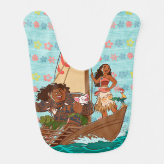Moana | Set Your Own Course Baby Bib