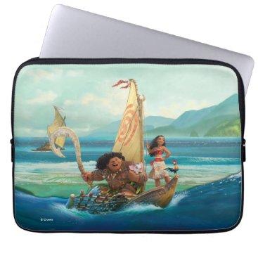 Disney Themed Moana | Set Your Own Course Laptop Sleeve
