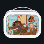 """Moana   Set Your Own Course Lunch Box<br><div class=""""desc"""">Sail across the Pacific Ocean with Disney&#39;s Moana, an adventurous and headstrong young girl who strives to save the people of Motunui. Accompanied by the mighty Maui and her playful companions Pua and Heihei, this ocean princess is unstoppable! The intricate island style art work on this enchanting design will capture...</div>"""