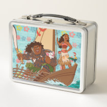 Moana | Set Your Own Course Metal Lunch Box