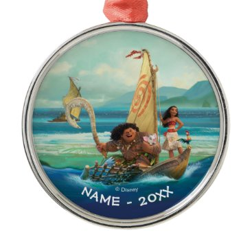 Disney Themed Moana | Set Your Own Course Metal Ornament