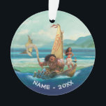 """Moana   Set Your Own Course Ornament<br><div class=""""desc"""">Sail across the Pacific Ocean with Disney's Moana, an adventurous and headstrong young girl who strives to save the people of Motunui. Accompanied by the mighty Maui and her playful companions Pua and Heihei, this ocean princess is unstoppable! The intricate island style art work on this enchanting design will capture...</div>"""