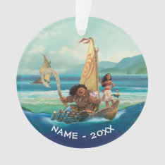 Moana | Set Your Own Course Ornament at Zazzle