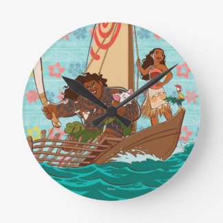 Moana | Set Your Own Course Round Clock