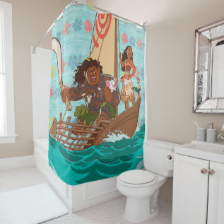 Moana   Set Your Own Course Shower Curtain at Zazzle