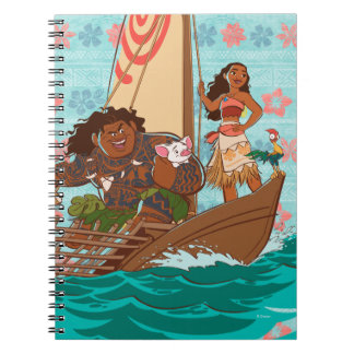 Moana | Set Your Own Course Spiral Notebook