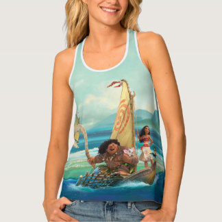 Moana   Set Your Own Course Tank Top