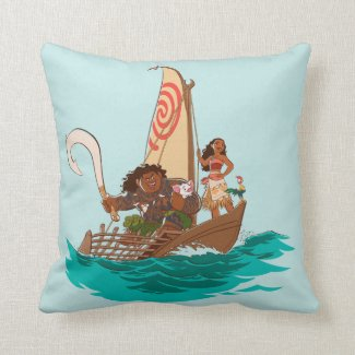 Moana | Set Your Own Course Throw Pillow