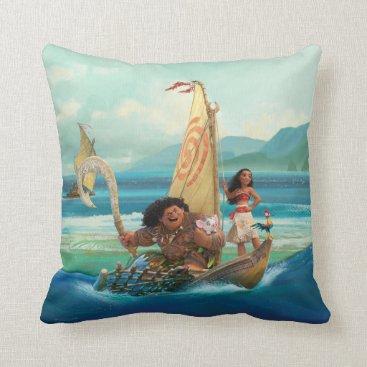 Disney Themed Moana | Set Your Own Course Throw Pillow