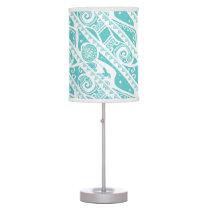Moana | Teal Aztec Pattern Desk Lamp