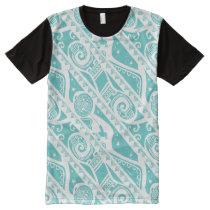 Moana | Teal Tribal Pattern All-Over-Print T-Shirt