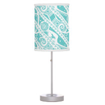Moana | Teal Tribal Pattern Desk Lamp