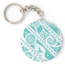 Moana | Teal Tribal Pattern Keychain