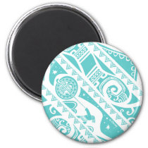 Moana | Teal Tribal Pattern Magnet