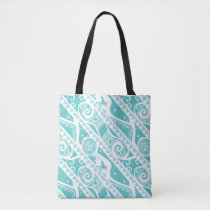 Moana | Teal Tribal Pattern Tote Bag
