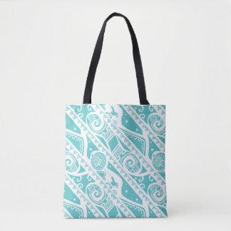 Moana | Teal Tribal Pattern Tote Bag