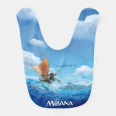 Moana   The Ocean Is Calling Baby Bib