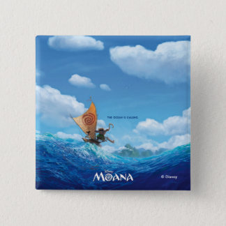 Moana   The Ocean Is Calling Pinback Button
