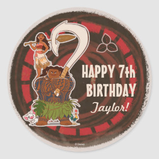 Moana | Tribal Birthday Classic Round Sticker